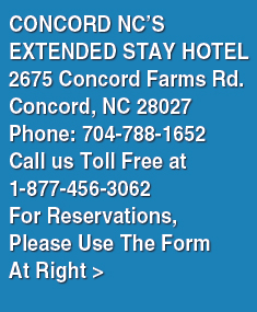Concord NC Corporate Suites | Extended Stay Hotel ...
