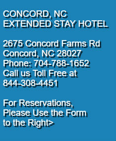 Extended Stay Hotel Long Concord Nc